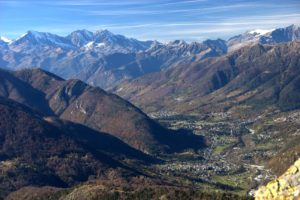 A panoramic view of Val Vigezzo taken at noon of a wonderful November day.